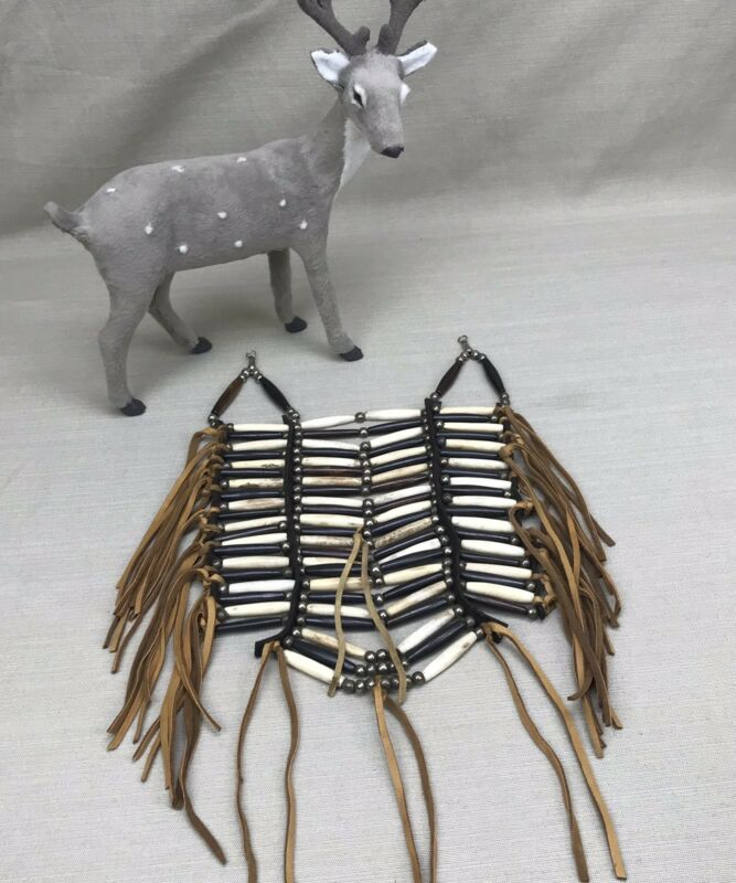 Native American Vintage Breast Plate for Child Buffalo Bone