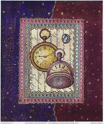 NICOLA RABBETT Watches decorative art print designer SIZE:23cm x 19cm  RARE