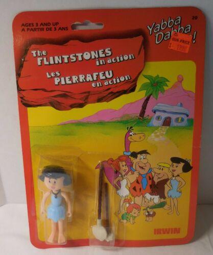 "Vintage THE FLINTSTONES 1985 Irwin BETTY RUBBLE 3.5"" Action Figure NEW/MOC/MIP"