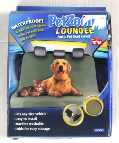 PetZoom Loungee Waterproof Auto Pet Seat Cover - New Open Box