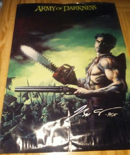 Rare Signed ARMY of DARKNESS Poster Bruce Campbell Autograph Darkhorse Comics