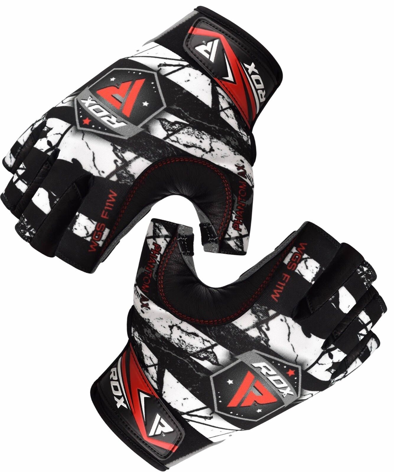 RDX Weight Lifting Gym Gloves Workout Fitness Straps Trainin