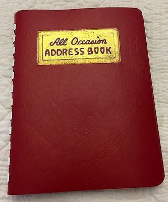 Vintage 1949 Red Address Phone Book Faux Leather Phillips Publishers