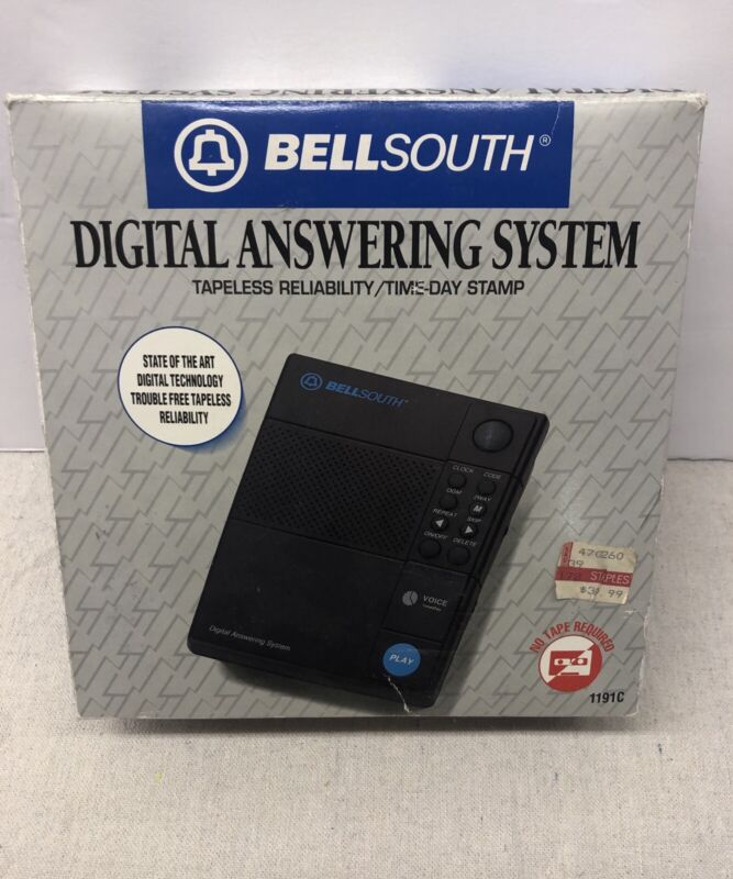 1990 Bellsouth Tapeless Answering System 1191C Never Used Open Box Complete