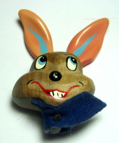 Bunny Rabbit Pin Hand Painted