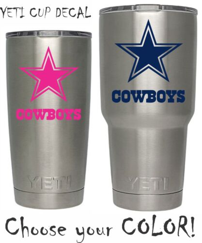 Dallas Cowboys Football Decal for NFL YETI Tumbler 20 30 Ozark RTIC Sticker