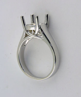 2 CT SOLITAIRE RING MOUNTING FOR 8MM ROUND 14K WHITE GOLD