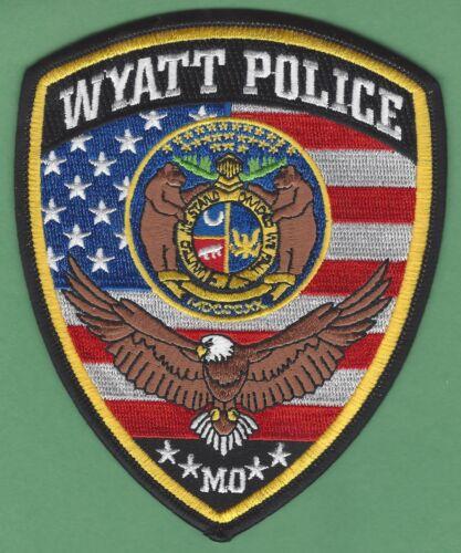 WYATT MISSOURI POLICE SHOULDER PATCH