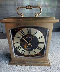 Howard Miller Brass Mantle Style Alarm Clock Desk Shelf 4RE603