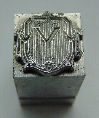 Vintage Printing Letterpress Printers Block Advertising Type Letter Y