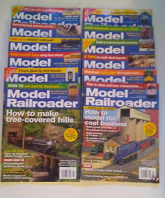 MODEL RAILROADER Magazine 2012 complete year 12 issues