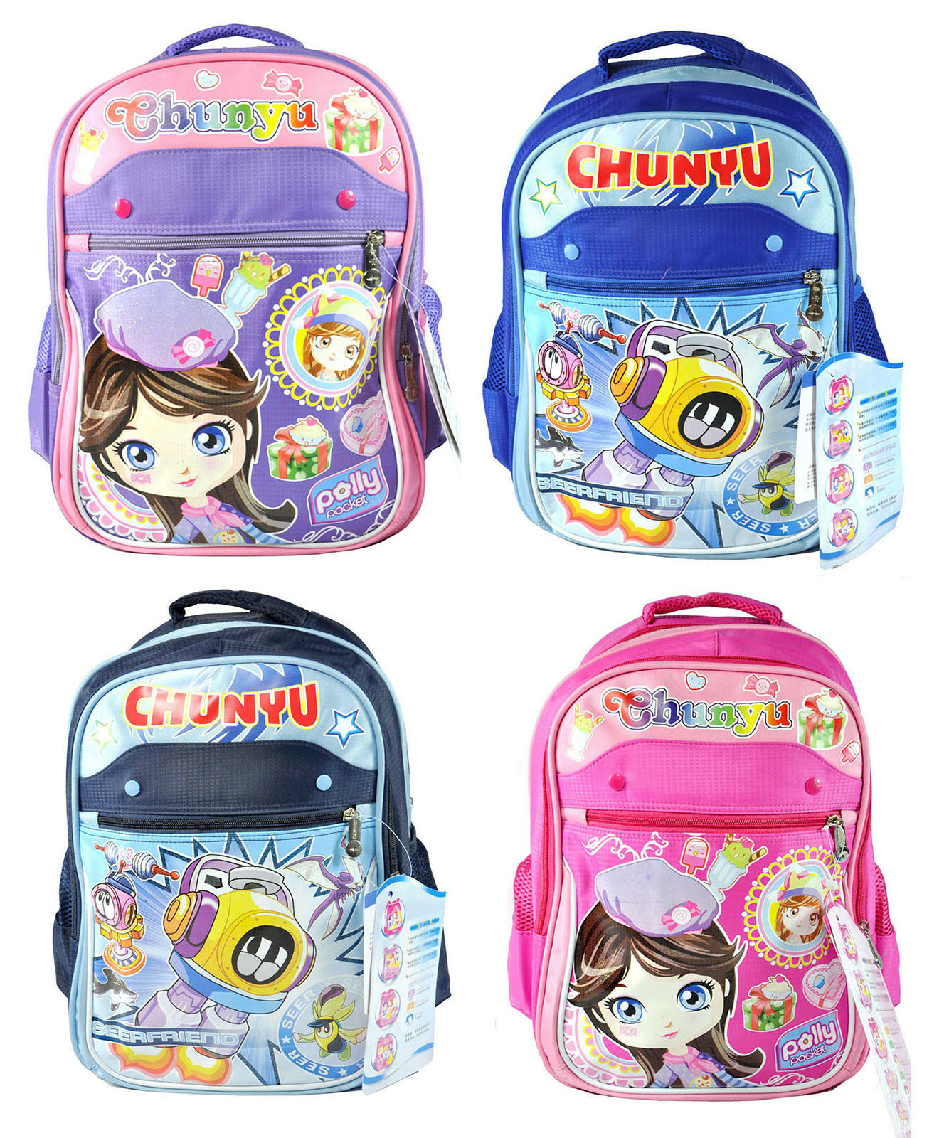 Cartoon Baby Girls Boys Soft Backpack Shoulder Bags Children