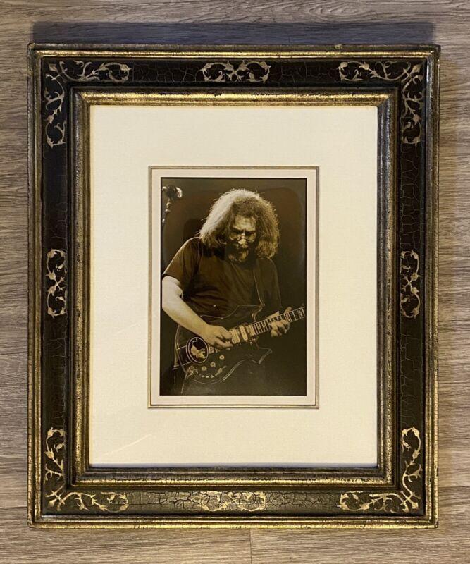 Original Jerry Garcia Jim Marshall Print 1975 Sterling Silver Moroccan Frame