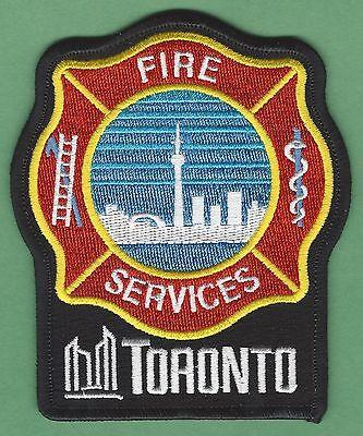 TORONTO ONTARIO CANADA FIRE DEPARTMENT PATCH