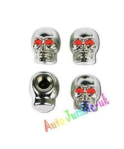 Scull-skull-retro-Bike-car-bmx-Valve-Dust-tyre-Caps