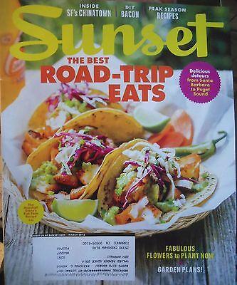 SUNSET MAGAZINE MARCH 2015 BEST ROAD TRIP EATS FLOWERS TO PLANT SEASON