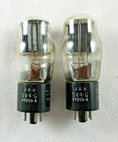5V4G VT-206 JAN RCA Used Rectifier Tubes Hickok RD-1575 Tested Codes match 1943