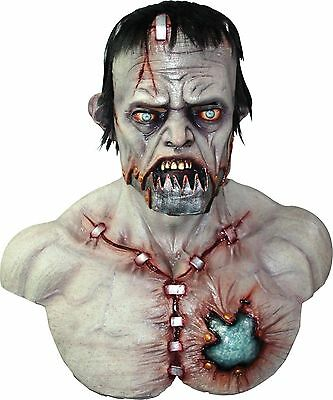 Halloween MEGA FRANKY FRANKENSTEIN MONSTER Adult Latex Deluxe Mask Costume NEW - Frankenstein Halloween Mask