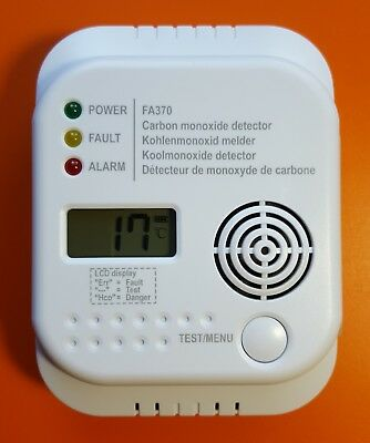 CO Detector FA370 Kohlenmonoxid Melder CO2 Security Sicherheit Leben retten