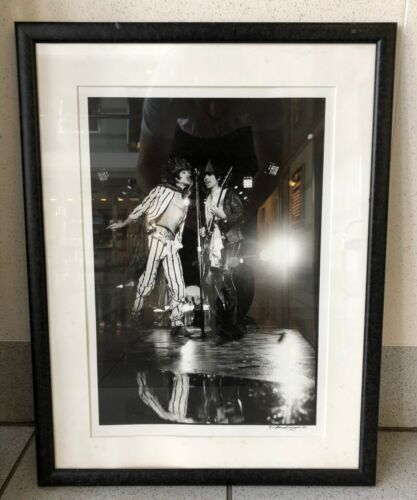 1975 Rolling Stones Mick Jagger Keith Richards Photograph Signed Michael Zagaris