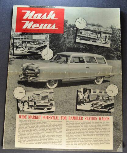 1953 Nash News Brochure Rambler Station Wagon Original 53