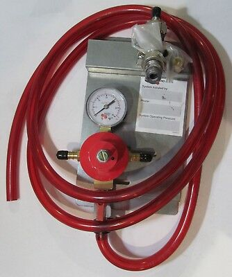 Micro Matic Wall Mount Single Regulator Panel Beer Keg Co2 60 Psi