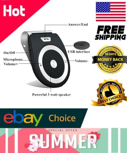 Bluetooth Handsfree Speakerphone for Cell Phone, Aigital Wireless in-Car Speaker