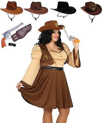 Cowgirl Kostüm Gr. XL oder XXL Cowboy Wilder Westen wählbar Hut + - Cowboy Cowgirl Kostüm