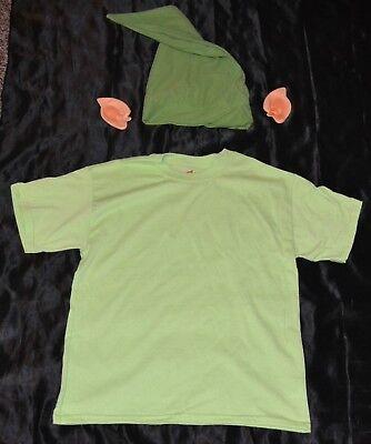 Link From Zelda Shirt Ears & Hat Halloween Costume Kids Boys Size: 10-12 L Youth - Link From Zelda Halloween Costumes