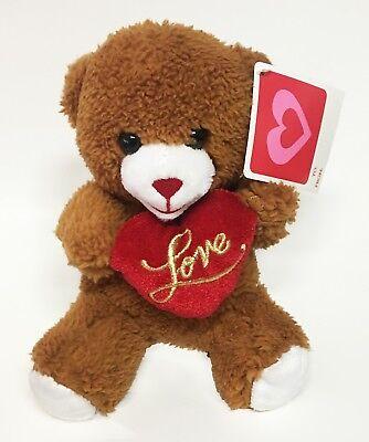 "Valentine's Day Teddy Bear Love Heart Pillow Toy Walmart Stuffed Plush 10"""