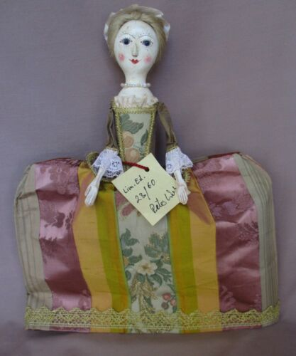 """12"""" Queen Anne Style Wooden Doll By Artist Peter Wolf  Signed LE 23/60 With Tag"""
