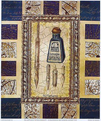 NICOLA RABBETT Ink Bottle interior decorating art SIZE:23cm x 19cm  RARE