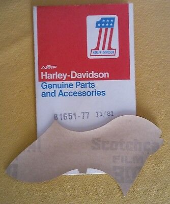 HARLEY-DAVIDSON FLAG GAS TANK DECAL  # 61651-77  VINTAGE GENUINE NOS H-D DIXIE