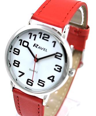 Ravel Herren Damen Kühn Groß Nummer Uhr mit Großem Zifferblatt und Extra Lang