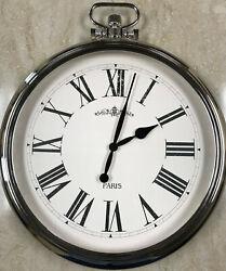Large Round Pocket Watch Wall Clock