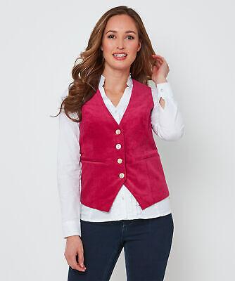 Joe Browns Womens Smart Button Up Velour Waistcoat