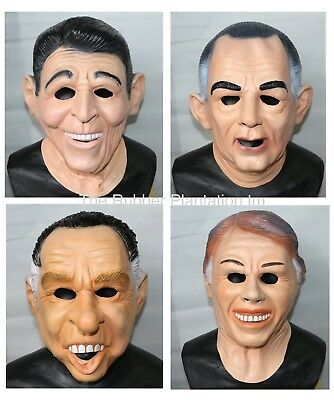 Ronald Reagan, Carter, LBJ, Nixon Mask Presidents ALL 4 Point Break Masks Joblot](Presidents Mask)