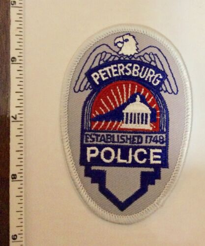 Petersburg South Carolina Police Silver Oval Patch New