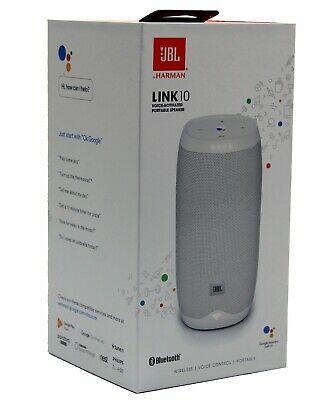 JBL LINK 10 Smart Portable Bluetooth Speaker w/Google Assistant White *LINK10WHT