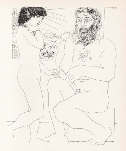 Pablo Picasso, Dreaming Sculptor, Model with Black Hair, Vollard Suite