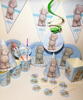 thday Me TO You Party Supplies kids Tableware Decorations (Teddy Bear Party Supplies)