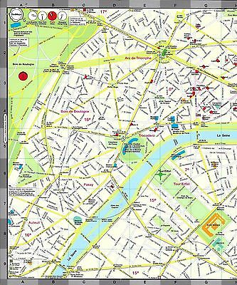 Map of Paris, France, by Red Maps, street map