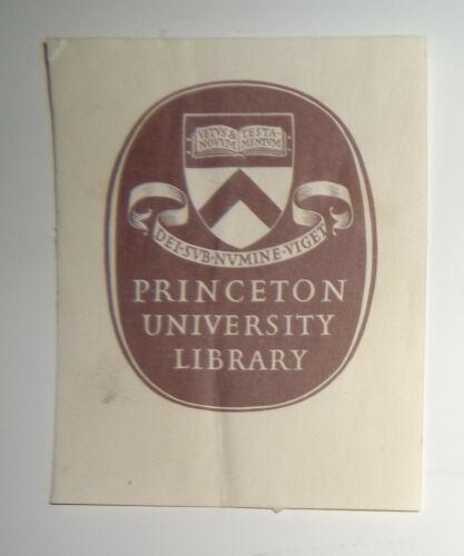 Princeton University Library Ex-Libris Bookplate