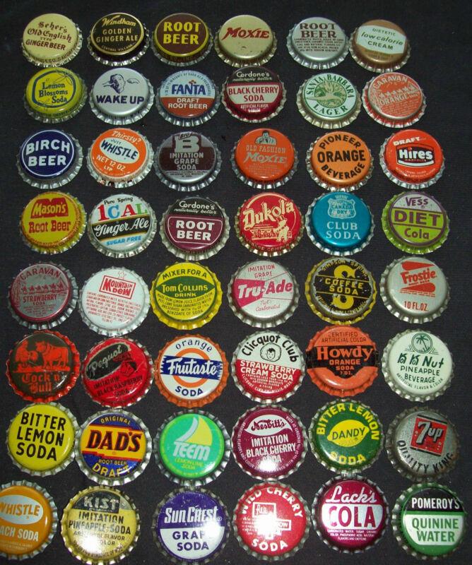 Lot of 200 Different Vintage Unused Soda Pop Bottle Caps 1940