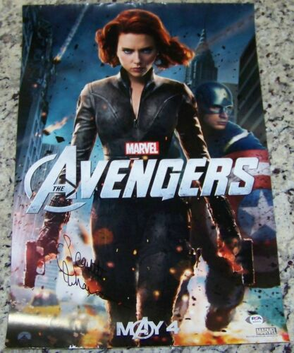 VERY RARE FULL AUTO! Scarlett Johansson AVENGERS Signed Photo Poster PSA COA!
