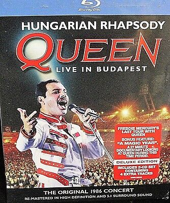 Queen - Live in Budapest NEW! 3-Disc Set,Blu-ray/2 CDs, Concert 1986 last tour