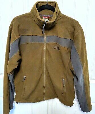 THE NORTH FACE Men's Sz S Green/Gray Fleece Jacket Full Zip Lightweight TKA 200