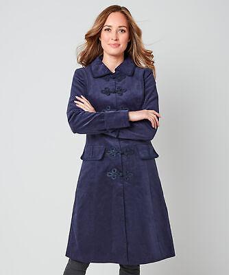 Joe Browns Womens Elegant Longline Velvet Coat