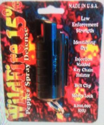 ULTRA HOTTEST! Wildfire 1/2 oz 18% OC POLICE Self Defense Pepper Spray Keychain