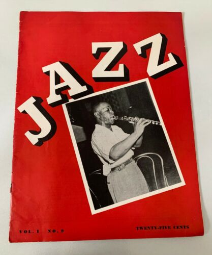 Jazz Vol 1 No.9 1943 Jazz Magazine Rex Stewart Duke Ellington Earl Hines vtg old